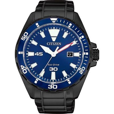 CITIZEN 星辰 台灣限定款 海軍藍光動能手錶 BM7457-82L