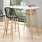 Bernice-維琪4尺簡約吧台桌/洽談桌/休閒桌-加高款-120x60x107.5cm
