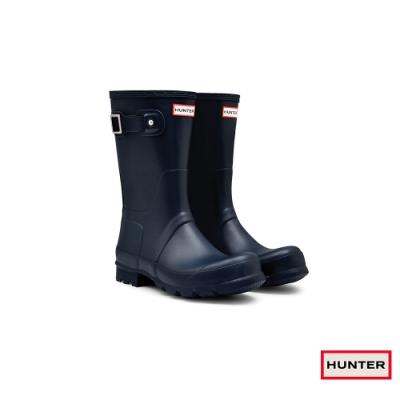 HUNTER - 男鞋-霧面短靴 - 海軍藍