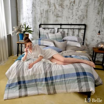 義大利La Belle 自由概念 加大水洗棉防蹣抗菌吸濕排汗兩用被床包組