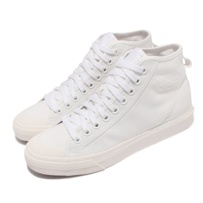 adidas 休閒鞋 Nizza HI 高筒 運動 男女鞋 海外限定 愛迪達 帆布 休閒穿搭 三葉草 白 B41643