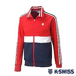 K-SWISS Tracksuit Zip Up運動外套-男-紅