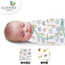 美國 Summer infant 純棉懶人聰明包巾(叢林童話+動物園+指套型牙刷含盒)