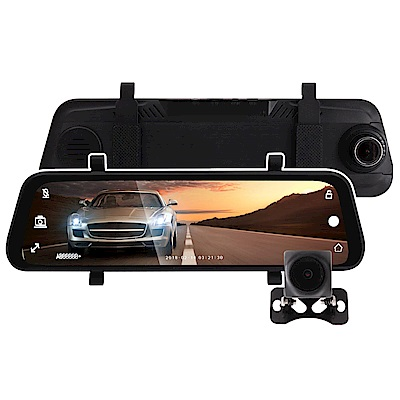 加贈32GB記憶卡 IS愛思 RV-18XW 全螢幕電子式後視鏡雙1080P行車記錄器
