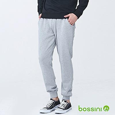 bossini男裝-針織束口棉褲01淺灰