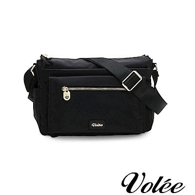 Volee好旅行系列多層拉鍊肩背包-德國黑