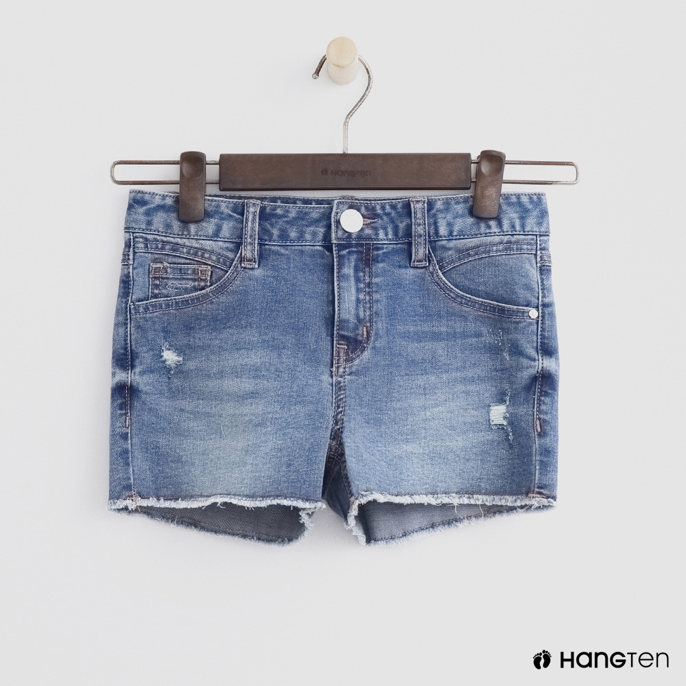 Hang Ten-童裝-潮流牛仔破褲-藍