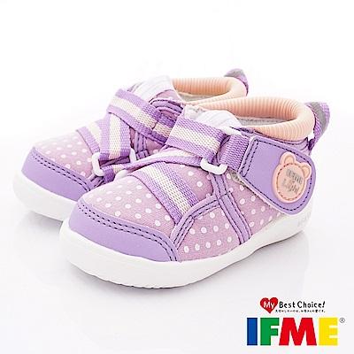 IFME健康機能鞋 護踝超輕學步款 EI70602紫(寶寶段)