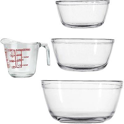 《FOXRUN》Anchor玻璃調理盆3件+量杯