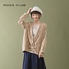 【MOSS CLUB】清新植物開襟領口造型上衣(二色)