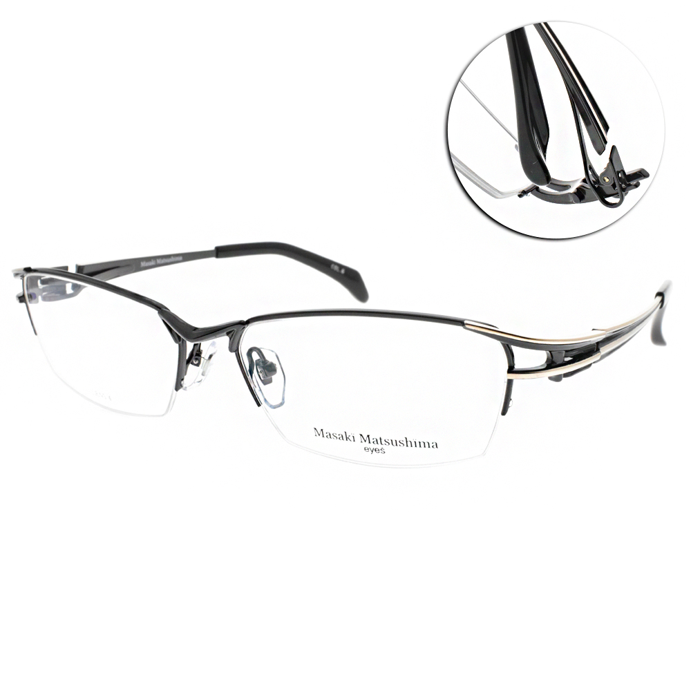 Masaki Matsushima眼鏡 日系工藝經典/黑-金 #MF1212 C06 @ Y!購物