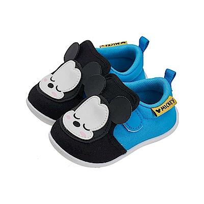 迪士尼 米奇 睡覺寶寶造型 學步鞋-藍