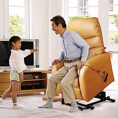 Sun Pin-Deirdre迪德黎伯爵無重力起身椅(全牛皮雙馬達)-酪黃