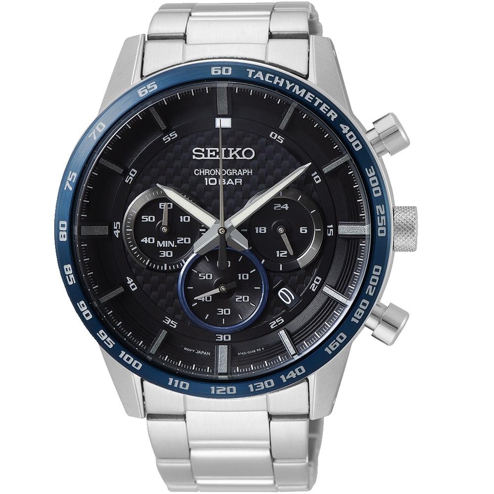 SEIKO 計時三環時尚手錶(SSB357P1)45mm