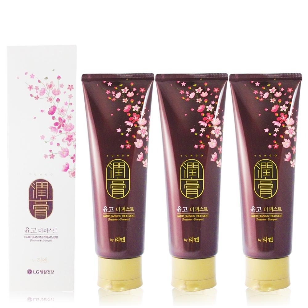 韓國LG ReEn 頂級潤膏 經典雙效護髮洗髮乳(白色) 250ml (3入)