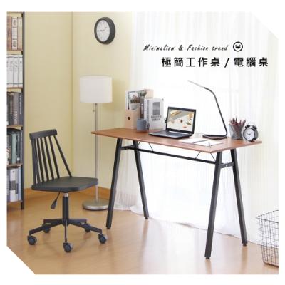 【RICHOME】超值E1板A字工作桌-3色 I-H-TA407/BK/WH  120 x 60 x 75 CM