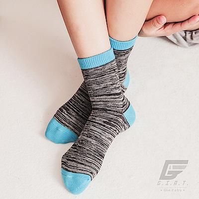 GIAT 台灣製花紗高棉萊卡童短襪(天藍)