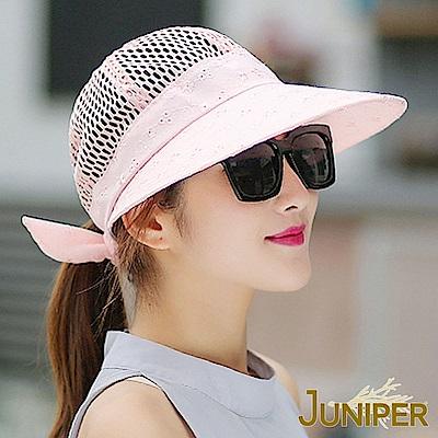 JUNIPER 女款戶外抗UV紫外線遮陽透氣淑女大眉帽