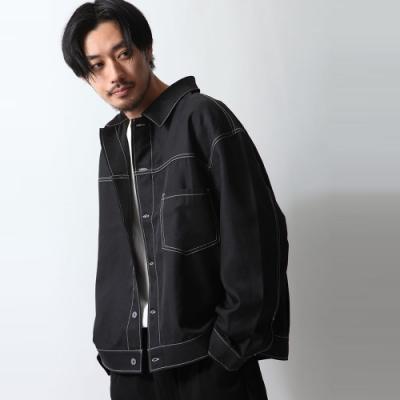 寬版襯衫外套長袖上衣素色薄外套(3色) -ZIP日本男裝