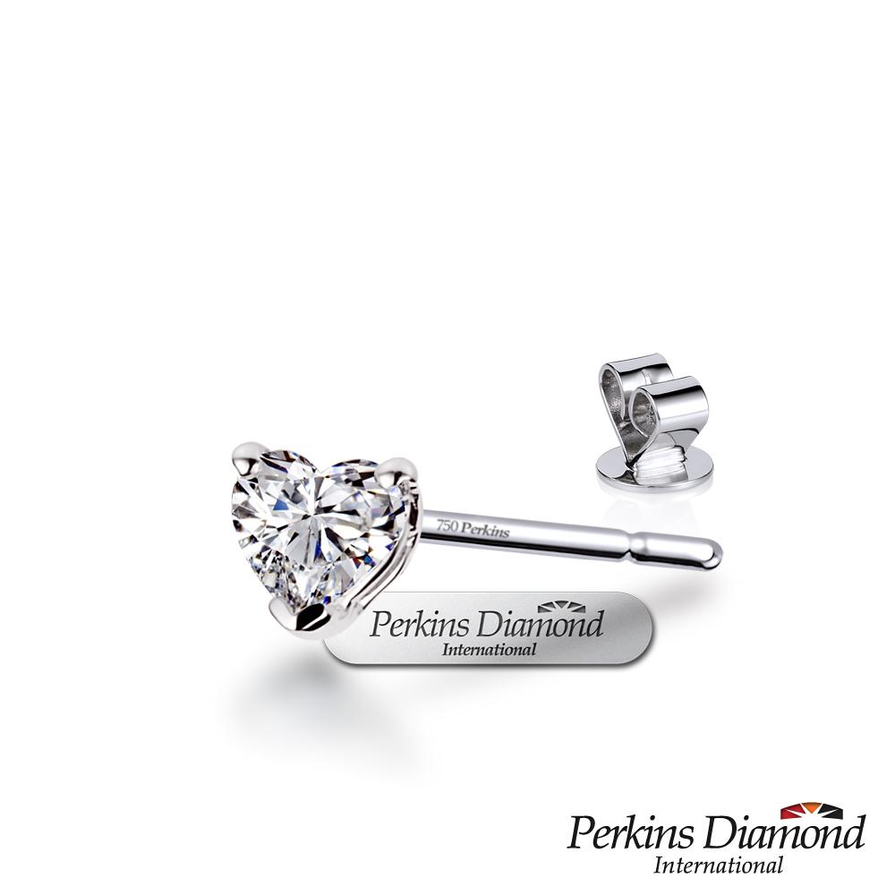 PERKINS 伯金仕 - GIA Heart Cut系列 0.30克拉心形單邊鑽石耳環