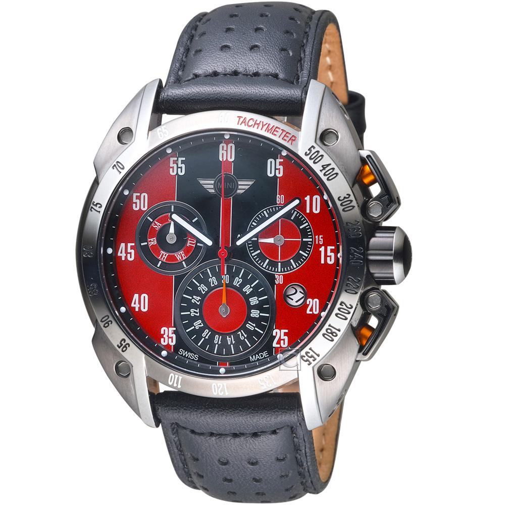 MINI Swiss Watches極速運動計時腕錶(MINI-160501)-紅