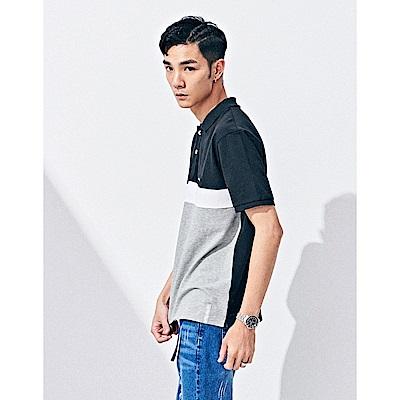 NAVY-撞色款POLO衫(兩色)-男【SNC059】