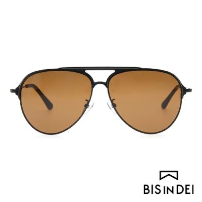 BIS IN DEI 美式飛行框太陽眼鏡-茶