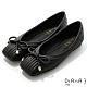 DIANA 0.5cm質感羊皮方頭娃娃鞋-都會時尚-黑 product thumbnail 1