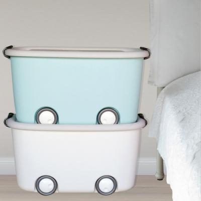 [愛收納]童話世界大滑輪整理箱二入
