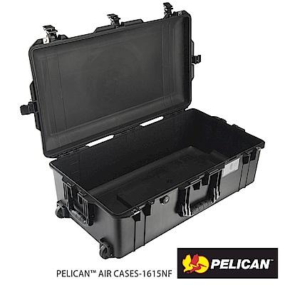 美國 PELICAN 1615AirNF 輪座拉桿超輕氣密箱-空箱(黑)