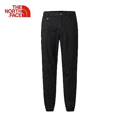 The North Face北面男款黑色舒適束腳休閒褲