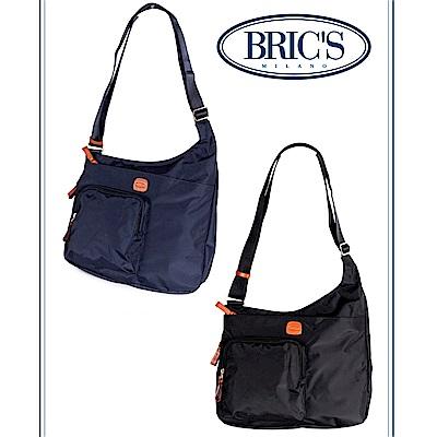 BRICS 義大利時尚 女仕斜背包 黑色 多收納口袋