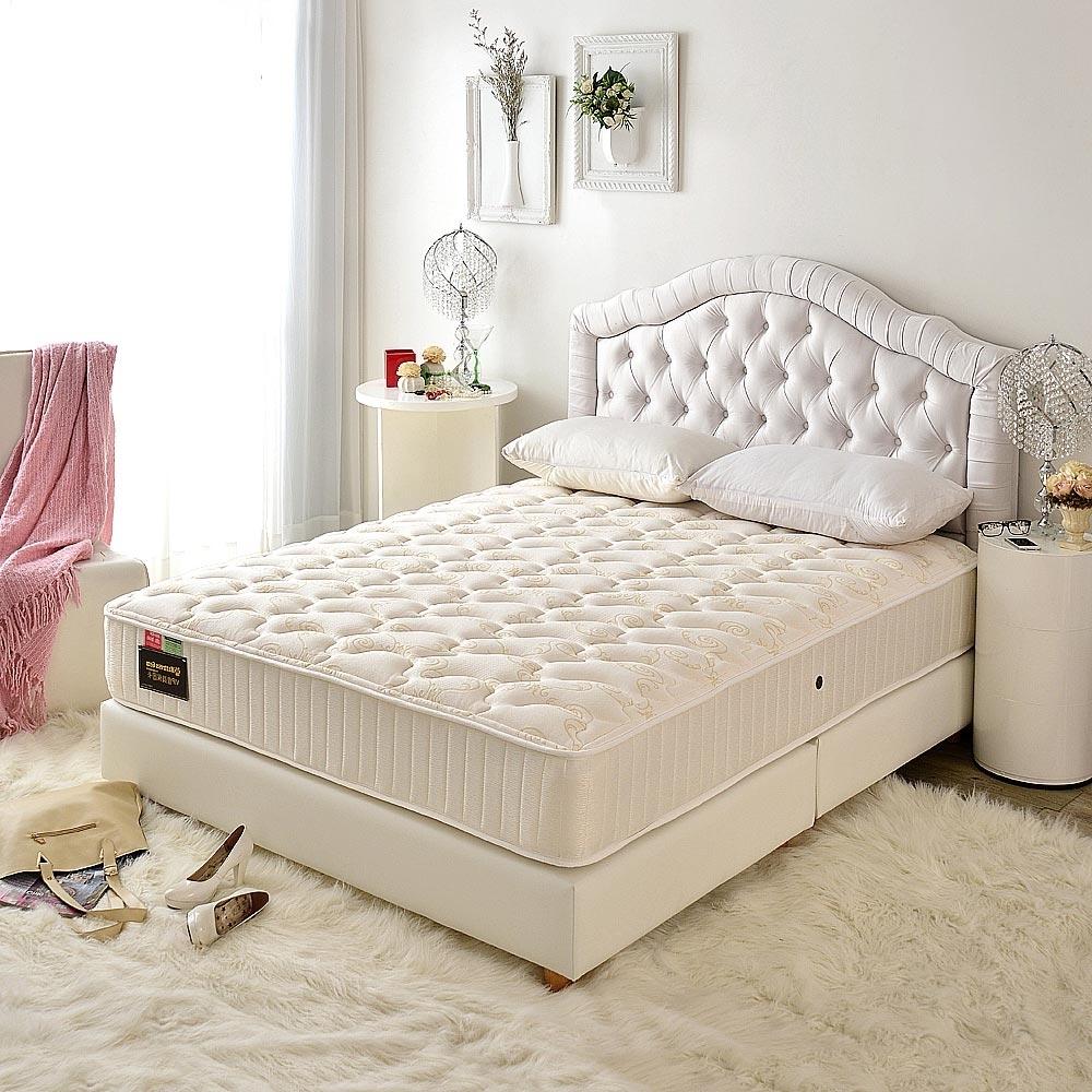 雙人加大6尺 飯店用透氣抗菌+側邊強化-麵包床護腰型-硬式獨立筒床墊-Ally愛麗
