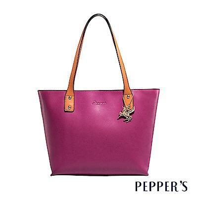 PEPPER`S Norah 牛皮托特包 - 胭紫