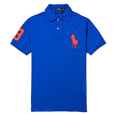 Polo Ralph Lauren 經典電繡大馬Polo衫(Custom)-藍色