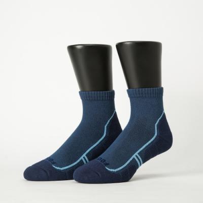 Footer除臭襪-流線型氣墊減壓科技襪-六雙入(藍*6)