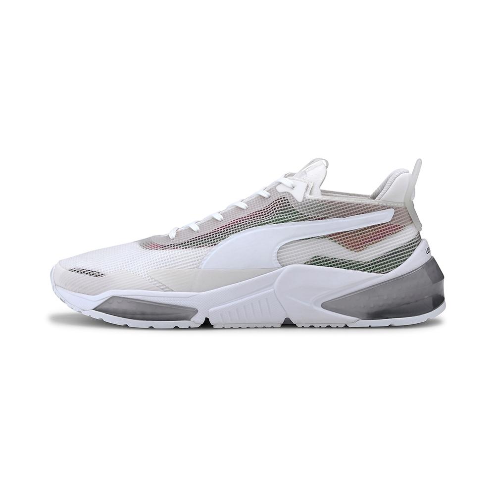 PUMA-LQDCELL Optic XI Iridescent 男女訓練運動鞋-白色