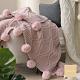 Cozy inn 簡約北歐雪尼爾球球毯-粉 product thumbnail 1