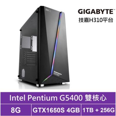 技嘉H310平台[殿堂武神]雙核GTX1650S獨顯電玩機