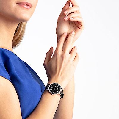 CALVIN KLEIN even 超然系列女錶-黑x皮錶帶/36mm
