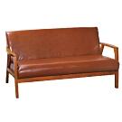 文創集 麥格西時尚皮革實木三人座沙發椅(二色可選)-163x80x80cm免組