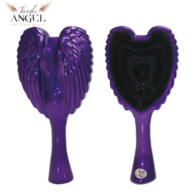 Tangle Angel 英國凱特王妃御用天使梳-金屬紫18.7cm中型款(王妃梳 天使梳 美髮梳 梳子)