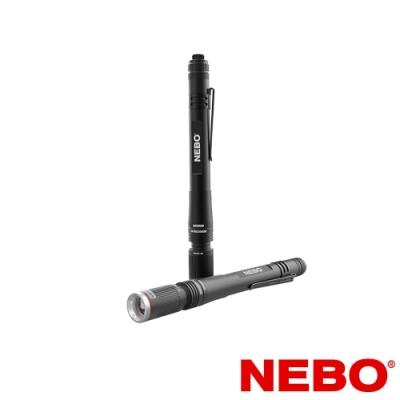 【NEBO】Inspector高亮度防水筆型手電筒-彈性供電(吊卡版)