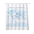 賽先生科學 科學浴簾-手稿地圖浴簾
