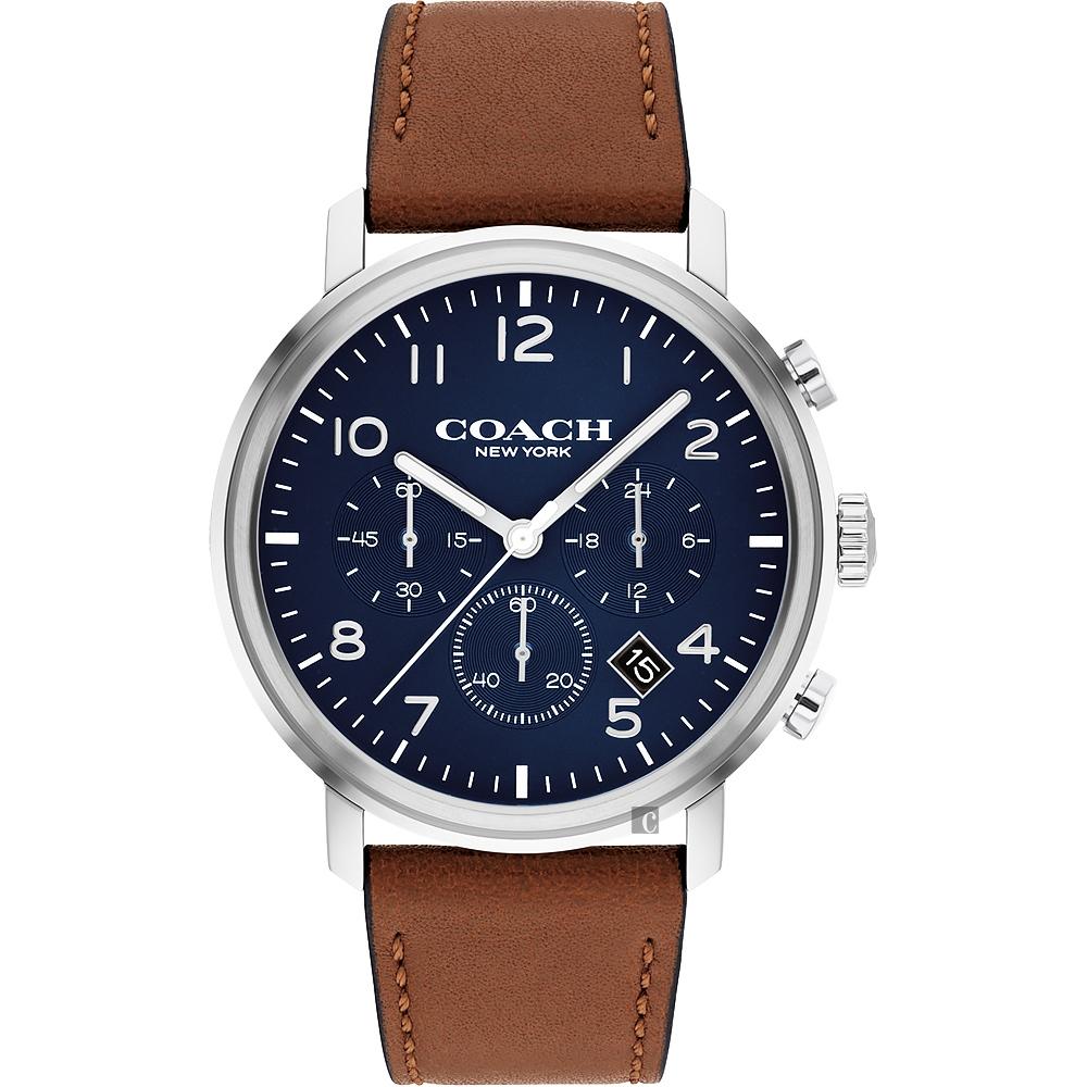 COACH 三眼計時日曆手錶-42mm CO14602542