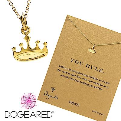 Dogeared 許願項鍊 后冠 金色 regal crown 你是天后  附原廠盒