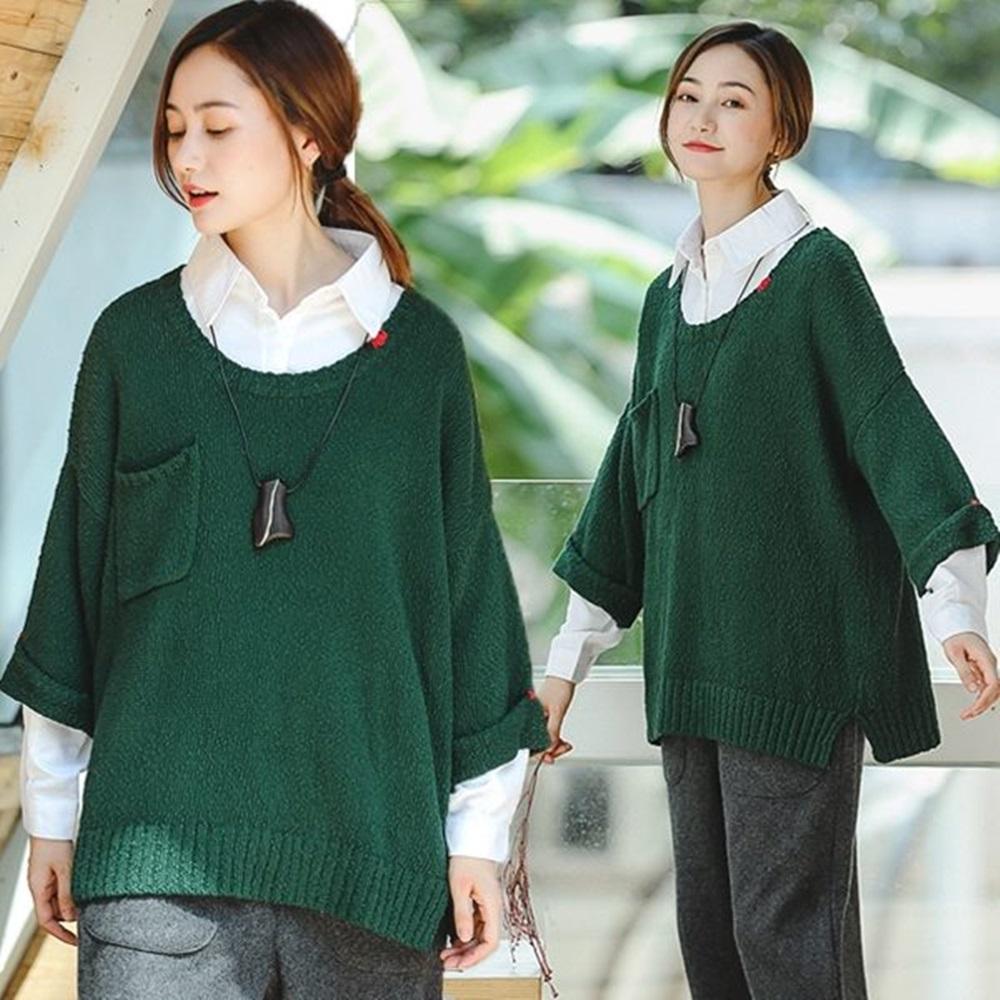 針織衫-手工刺繡訂製純棉毛衣-Z8933-設計所在