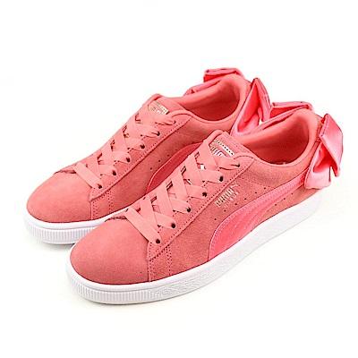 PUMA-Suede Bow Wns女休閒鞋-粉磚紅