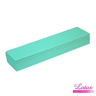 瑜珈墊 台灣製歐規專業摺疊瑜珈墊+獨家打版收納袋-LOTUS-薄荷綠