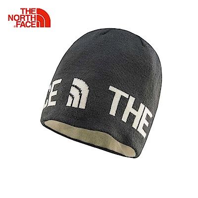 The North Face北面深灰色雙面穿戴保暖針織帽|AKND2GS
